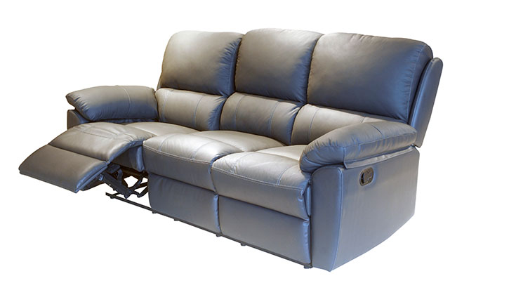 Too 89 dark brown dual reclining leather sofa piece has for Sofa table for sale near me