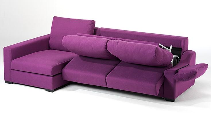 Sofa cama chaise longue sistema italiano for Sofa 4 plazas chaise longue